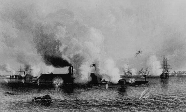 The war at sea had 42 ships.