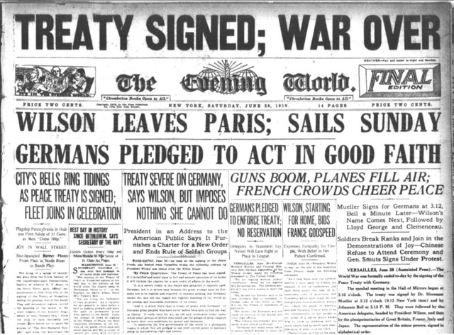 Treaty of Versailles presented to German leaders