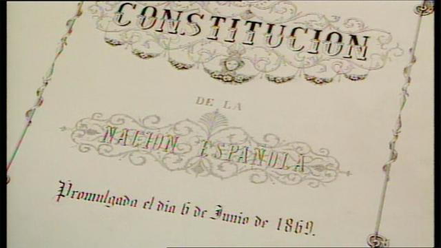 La Constitución de 1869.