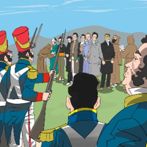 Afusellament del general Del Riego.