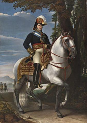 1823-1833. Dècada Ominosa del segon regnat de Ferran VII.