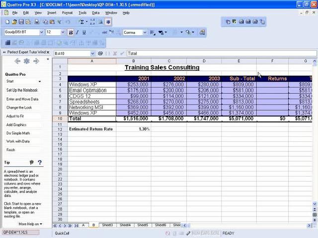 Computerización de hojas de cálculo