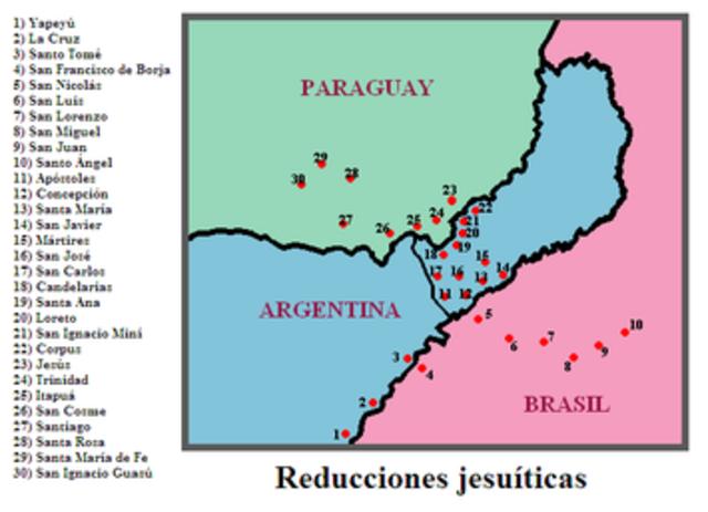 las reducciónes jesuíticas