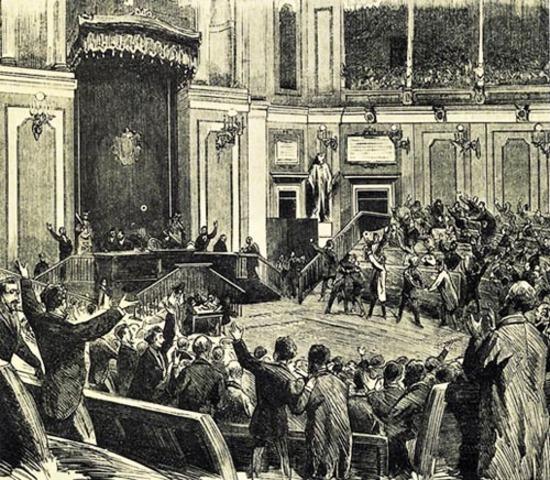Proclamació a les Corts de la Primera República Espanyola.