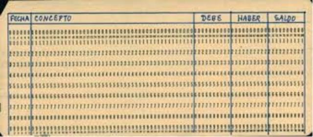 Tarjetas perforadoras para procesar datos.