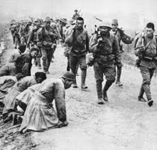 Japanese invade China