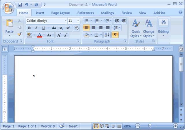 Office 2007 (Interfaz Ribbon)