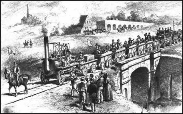 The railroad opens