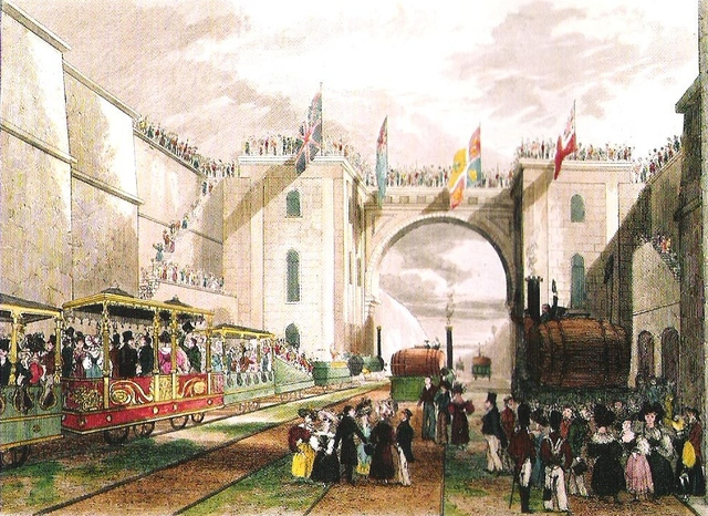 the Liverpool-Manchester Railway opens officially