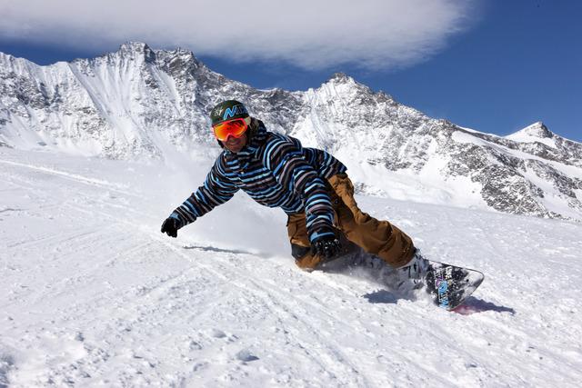 Yo hice snowboard: