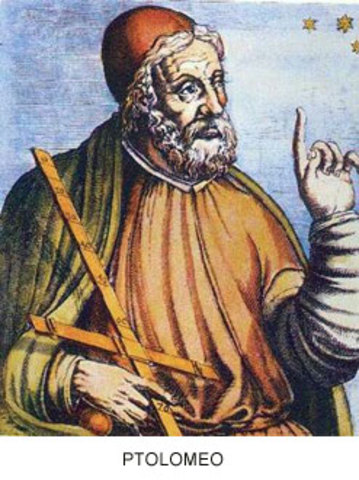 Ptolomeo: Rayos rectilíneos continuos