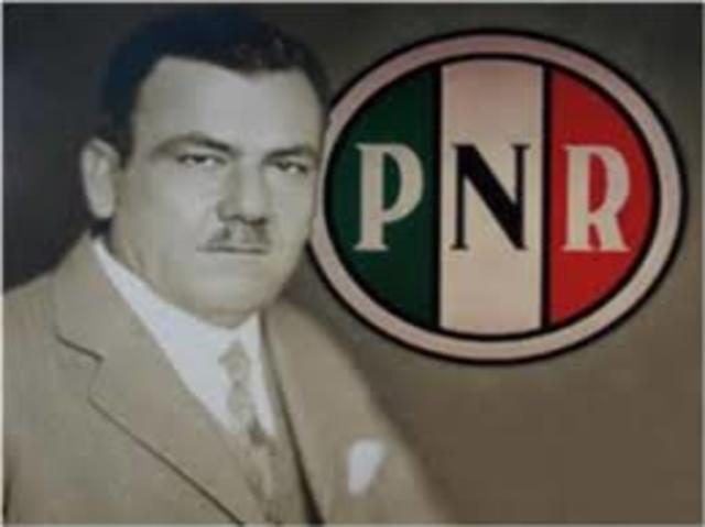 PARTIDO NACIONAL REVOLUCIONARIO 1929
