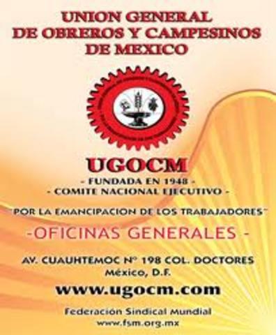 UGOCM LA UNIÓN DE OBREROS Y CAMPESINOS DE MÉXICO.