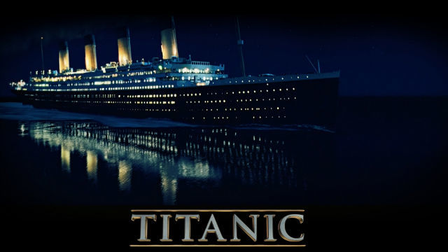 The RMS Titanic strikes an iceberg and sinks