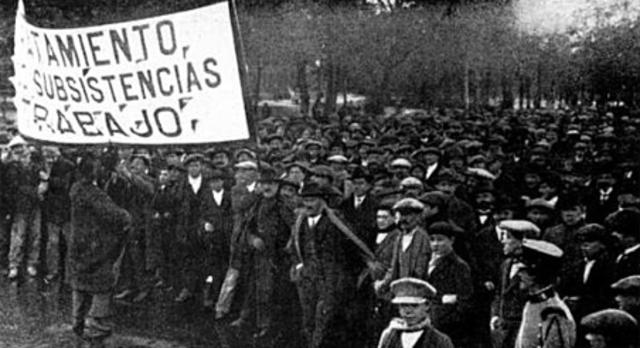 Crisi de 1917: Política social i militar