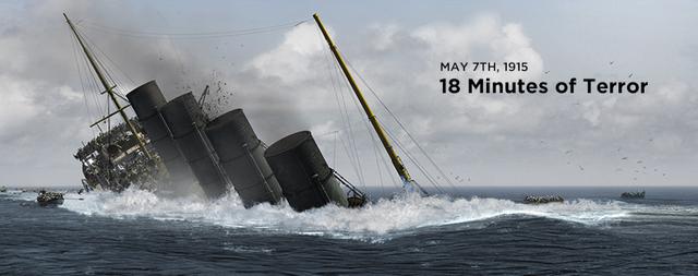 German U-Boats sink the RMS Lusitania