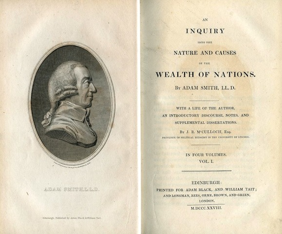 """Adam Smith publishes his book """"The Wealth of Nations"""""""