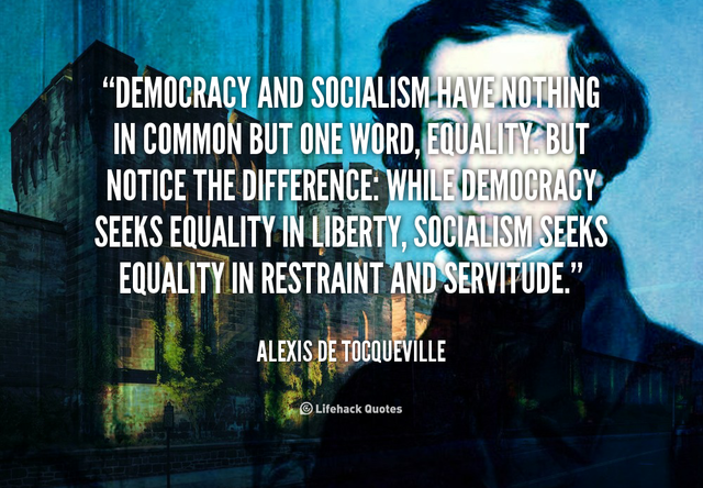 Alexis de Tocqueville gives a speech stating where he stands with Socialism
