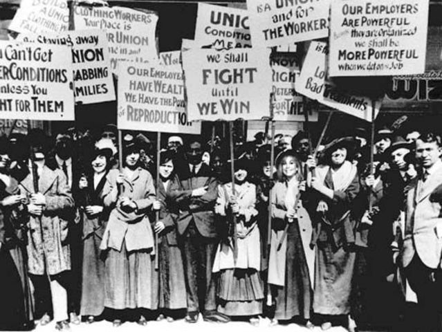 British trade unions win the right to strike ad picket peacefully