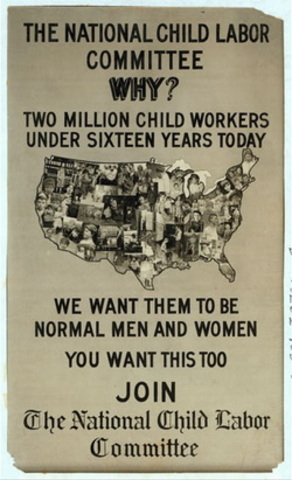 a group of progressive reformers form the National Child Labor Committee to end child labor