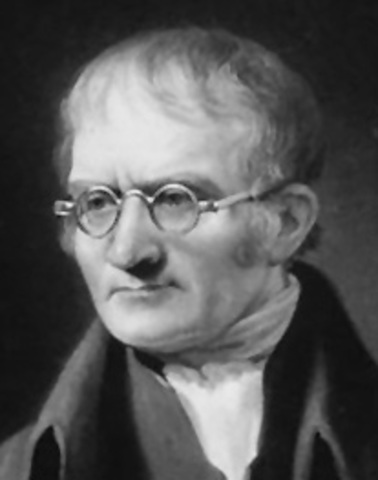 British chemist John Dalton theorises that all matter is made of tiny particles called atoms
