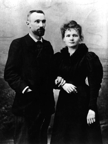 Marie and Pierre Curie win the Nobel Prize for physics and their work on radioactivity