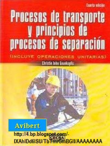 Publicaciones importantes de Operaciones Unitarias por varios autores