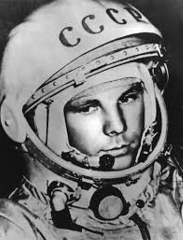 First human pilot in space