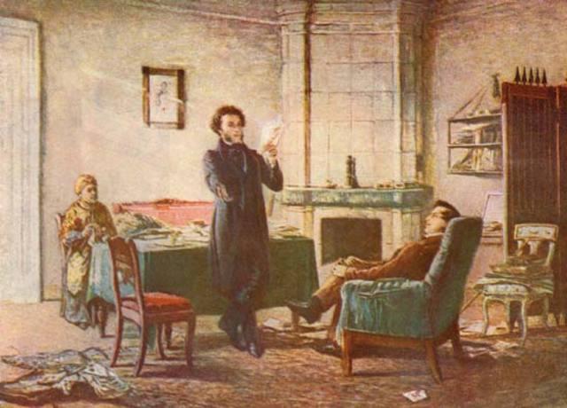 Посещение Пушкина И. И. Пущиным