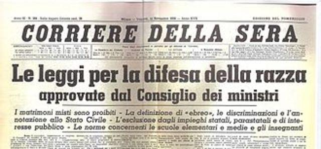 Introduzione in Italia delle leggi razziali