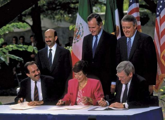 NAFTA comes into effect