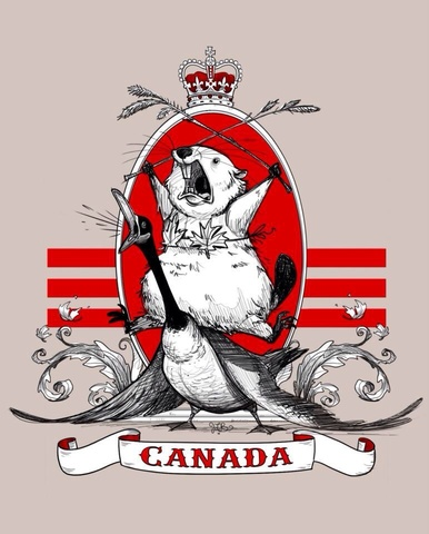 Canadian Crest Artist Drawn