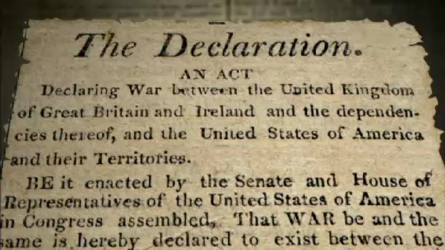 United States declares war on Britain (the War of 1812)