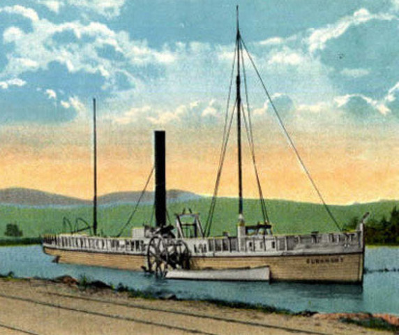 Fulton sails Hudson River in first steamboat
