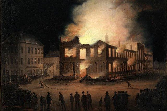 Americans burn York