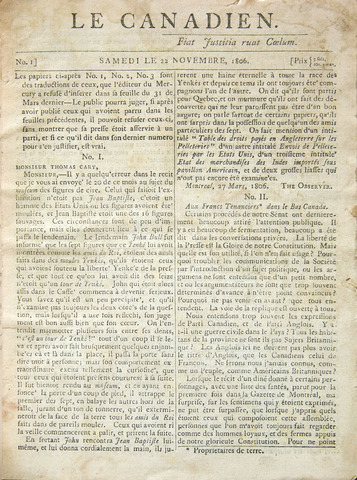 Le Canadian, a Québec nationalist newspaper, is founded