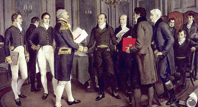 Treaty of Ghent ends war of 1812