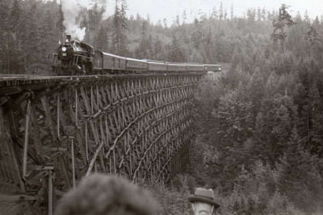 The first railway in Canada opens