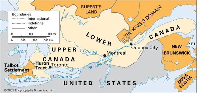 Upper and West Canada