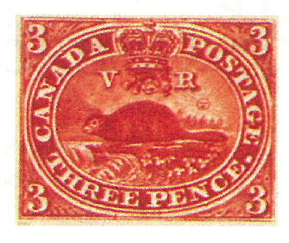 Canada's first postage stamp is issued