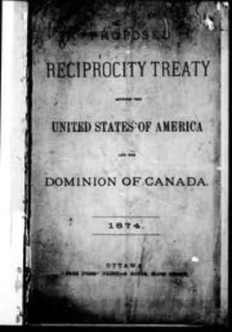 Canada signs Reciprocity Treaty with the U.S.