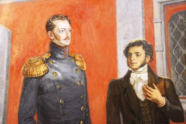 Беседа Николая 1 с Пушкиным