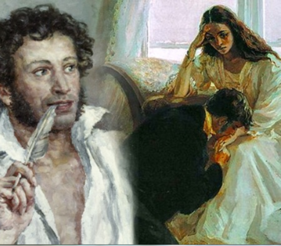 "Пушкин дописывает роман ""Евгений Онегин"""