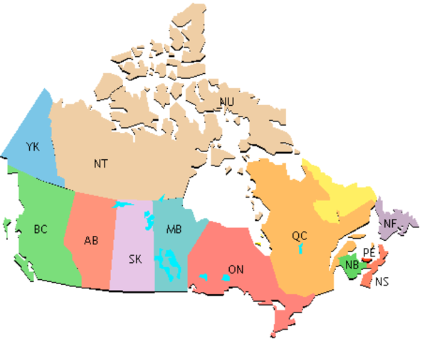 Linguistic Map of Canada