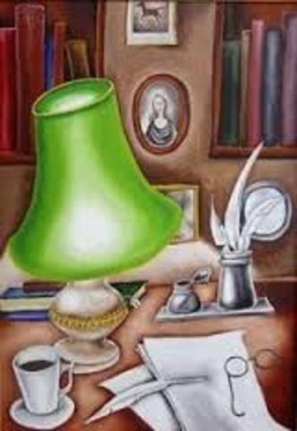 Вступает в члены литературно-театрального сообщества «Зелёная лампа»