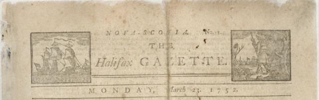 Halifax Gazette Begins