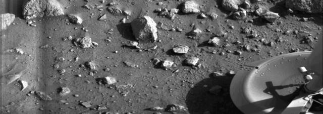 First photos and soil samples from the surface of Mars