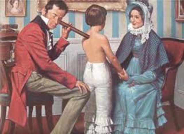 Rene Laennec invents the stethoscope
