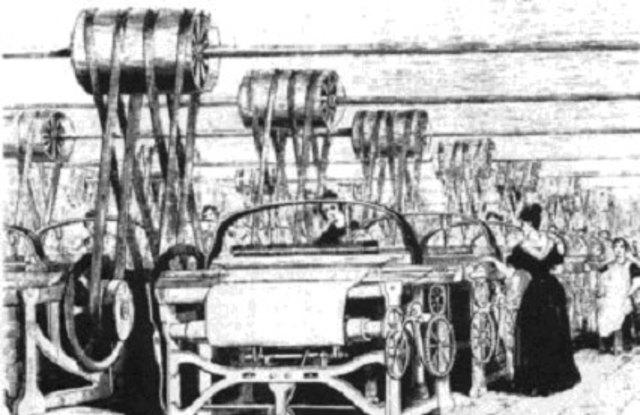 Cartwright aplica la máquina de vapor al telar