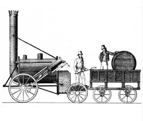 Stephenson construeix la primera locomotora de vapor